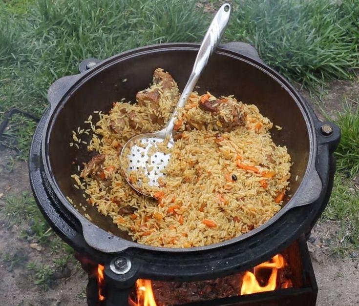 Настоящий узбекский плов из говядины