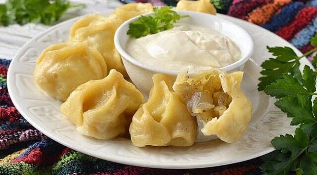 Рецепт мантов узбекских с мясом и картофелем
