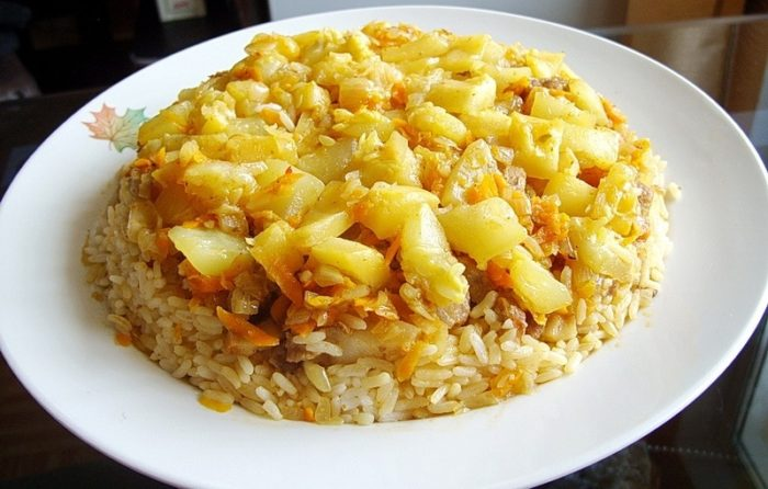 Плов с картошкой (азербайджанский)