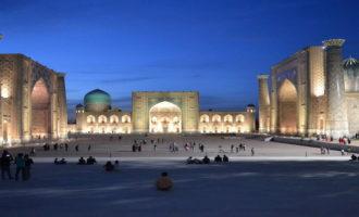 Знаменитая площадь Регистан в городе Самарканд