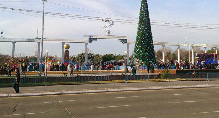 Новогодний Узбекистан Ташкент