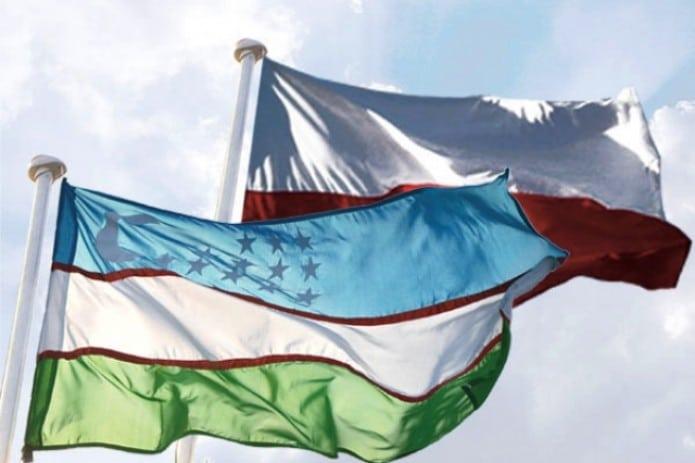 флаги Польша Узбекистан