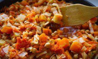 морковь и нут