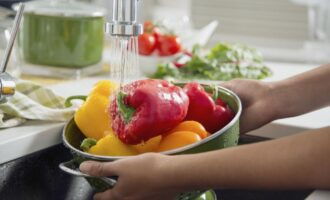 Мытые овощи